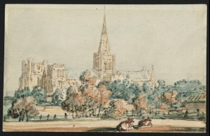 Chichester Cathedral from the South West circa 1797 by Thomas Girtin 1775-1802