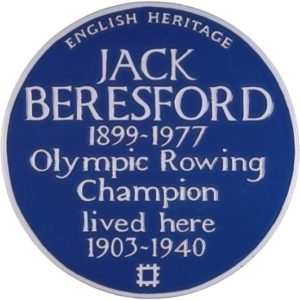 Jack Beresford blue plaque