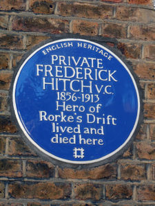 Private Frederick Hitch VC1856-1913 blue plaque