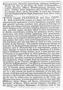 Moreton Hall Chiswick 1812