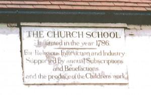 Insribed stone Sarah Trimmer School