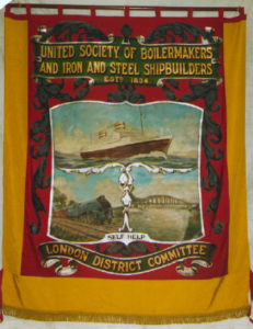 Banner of the Boilermakers' Banner, courtesy of the People's history Museum 1993.52
