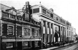 The Royal Brewery, Brentford High Street with the Brewery Tap pub adjoining (Chiswick Local Studies LB Hounslow)