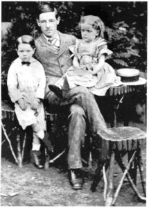 Charles Molesworth Tuke, 1857-1925 with his youngest brother and sister (Courtesy of David Tuke)